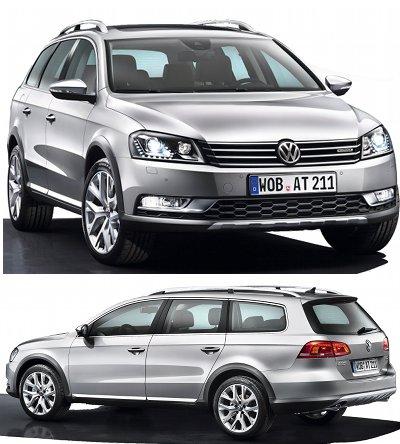 Présentation d'une version 4x4, tout chemins de la VW Passat: la Volkswagen Passat Alltrack de 2013. <br> Cette VW Passat Alltrack répond à l'Audi A4 allroad Quattro, voire à la Peugeot 508 RXH.